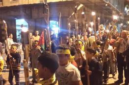 مسيرة مشاعل بنابلس في ذكرى شهداء 2002