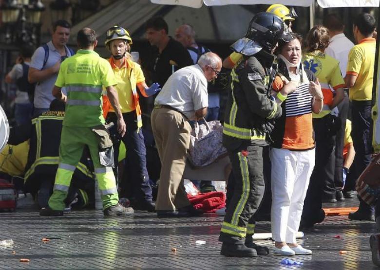إصابة إسرائيلية في هجوم الدعس ببرشلونة