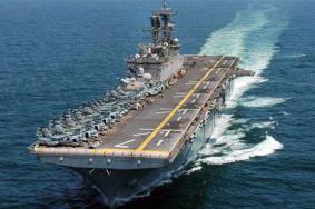 حاملة طائرات أمريكية تصل ميناء حيفا لبدء تدريبات مع جيش الاحتلال