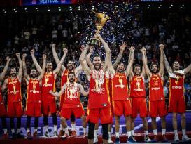 المنتخب الإسباني يتوج بطلاً لكأس العالم لكرة السلة