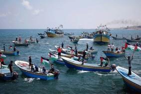 إصابات برصاص الاحتلال في المسير البحري ال19 شمال القطاع