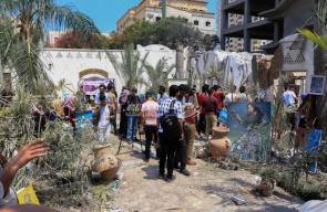 معرض فني ووقفة على أنقاض قرية الفنون والحرف بغزة