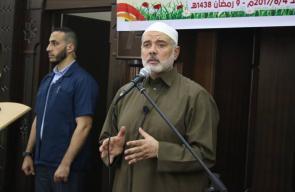 هنية يفتتح مسجد الشهيد القائد محمد أبو شمالة برفح