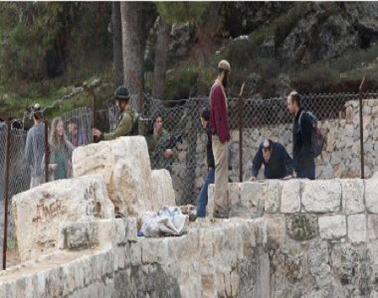 مستوطنون يقتحمون منطقة برك سليمان جنوب بيت لحم