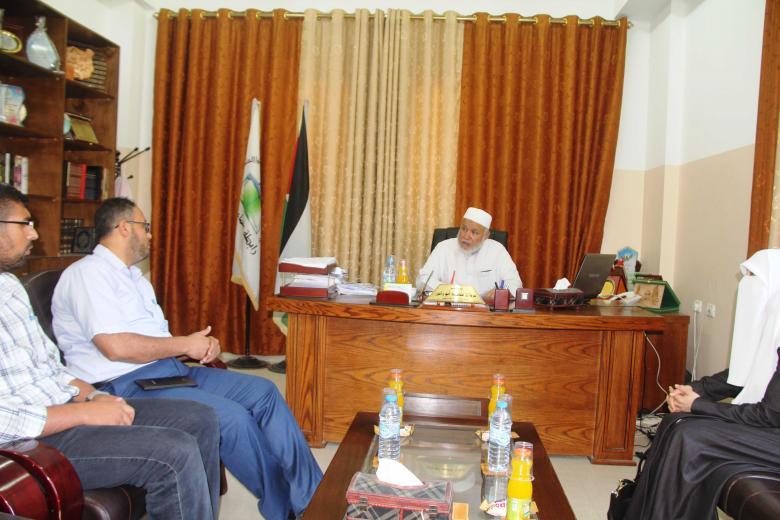 4be82ffc167d5 رابطة علماء فلسطين تستقبل وفداً من الإدارة العامة للرعاية الاجتماعية ...