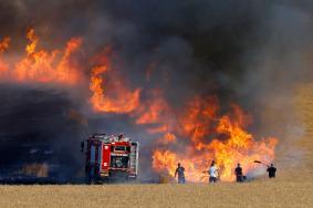 """6 حرائق منذ الصباح في مستوطنات """"غلاف غزة"""""""