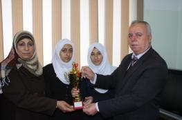 مديرية شمال غزة تحصد المركز الأول في بطولة تنس الطاولة للبنات