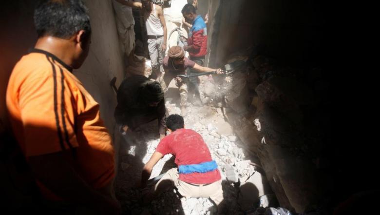 أسرة بكاملها ضحية غارة للتحالف السعودي الإماراتي بصنعاء