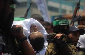 تشييع جثمان الشهيد محمد الشرافي