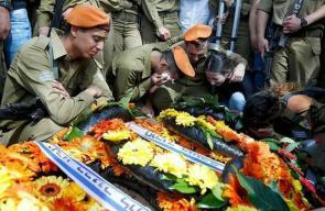 جنازة الضابط الإسرائيلي المقتول بعملية الأسير قبها