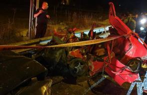 وفاة 4 شبان وإصابة 3 بحادث سير شرق الخليل