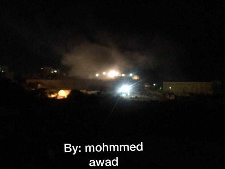 لحظة استهداف الطيران الحربي الإسرائيلي لأحد مواقع المقاومة
