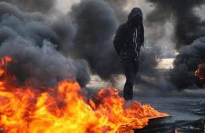 احتجاجات العراق.. نيران ودخان