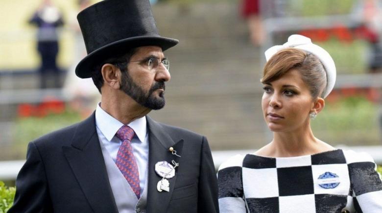 أين كان حاكم دبي بينما تمثل الأميرة هيا أمام المحكمة؟