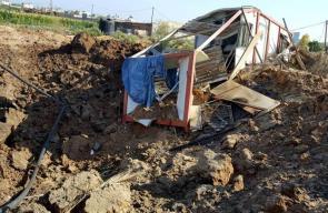 الأضرار التي لحقت بملعب نماء جراء استهدافه من الطيران الإسرائيلي