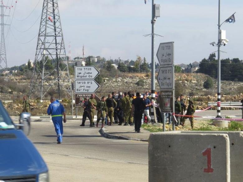 """إصابة شاب برصاص الاحتلال على مفترق """"غوش عتصيون"""""""