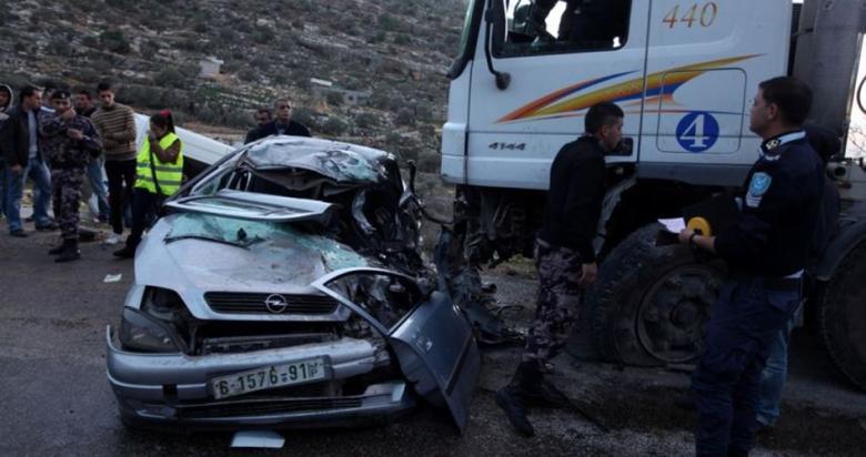 إصابة 124 مواطن في 223 حادث سير الأسبوع الماضي بالضفة