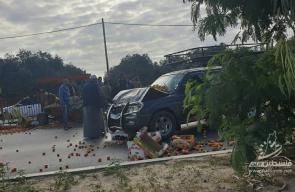 إصابات جراء حادث سير بالمحافظة الوسطى شارع صلاح الدين
