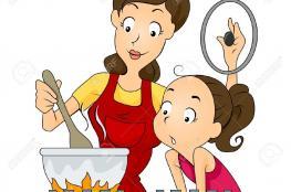طبخ أمه