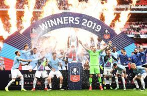 مانشستر سيتي يتوج بكأس الاتحاد الإنجليزي