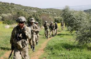انتشار الجيش التركي في عفرين