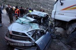 إصابة خمسة مواطنين في حادث سير في جنين