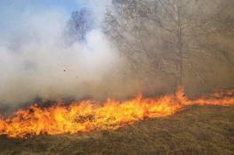 """حريق جديد قرب """"كيسوفيم"""" بفعل طائرة ورقية حارقة"""