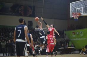 مباراة خدمات البريج وخدمات المغازي في نهائي دوري كرة السلة