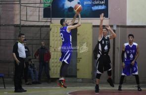 مباراة شباب البريج وشباب المغازي في دوري السلة