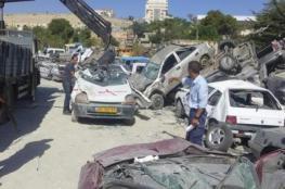 إتلاف 100 مركبة غير قانونية غرب رام الله