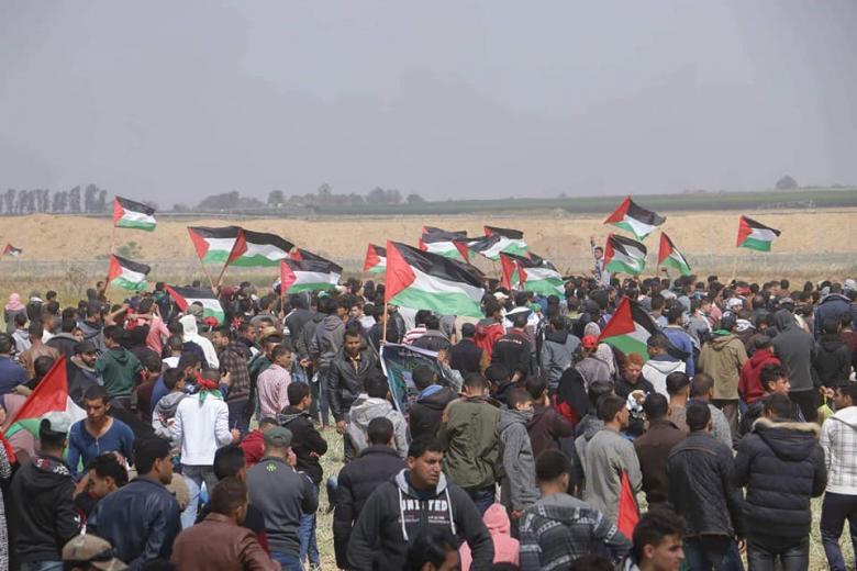 """جماهير قطاع غزة تتجهز لـ """"جمعة صمودنا سيكسر الحصار"""""""