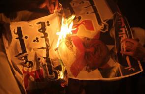 حماس تنظم وقفة احتجاجية ضد قرارات عباس بدير البلح