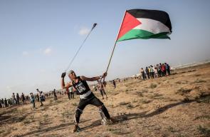 لقطات متنوعة من مسيرة العودة الكبرى في جمعتها الـ 66 شرقي قطاع غزة