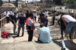 """مستوطنون يعتدون على تجار في سوق """"الخواجات"""" بالقدس"""
