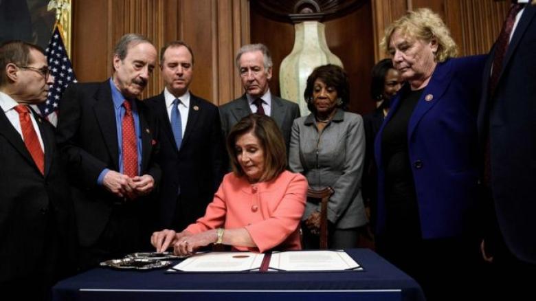 إحالة الاتهامات الموجهة للرئيس الأمريكي إلى مجلس الشيوخ