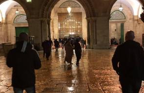 صلاة فجر الجمعة في المسجد الأقصى المبارك