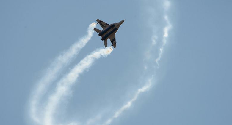 سقوط طائرة حربية روسية في مصر