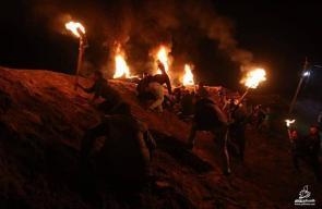 تواصل فعاليات الإرباك الليلي بمخيم العودة شرق البريج