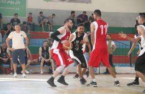 افتتاح كأس كرة السلة في قطاع غزة