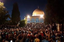 """الأوقاف: الاحتلال يفتح جميع أبواب """"الأقصى"""" أمام المصلين"""