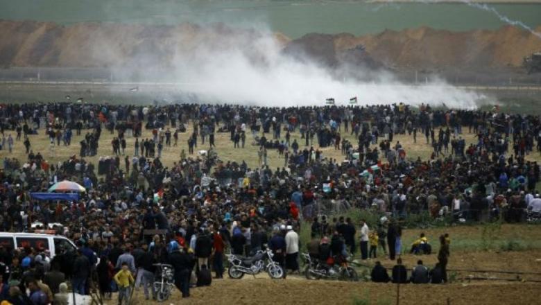 إصابة 16 متظاهرًا بالجمعة الـ59 لمسيرات العودة