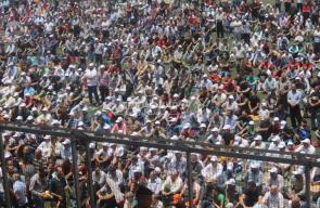 صلاة الجمعة في ستاد الحسين بالخليل نصرة للأقصى