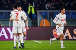 يوفنتوس يهزم روما ويسيطر على صدارة الدوري الإيطالي
