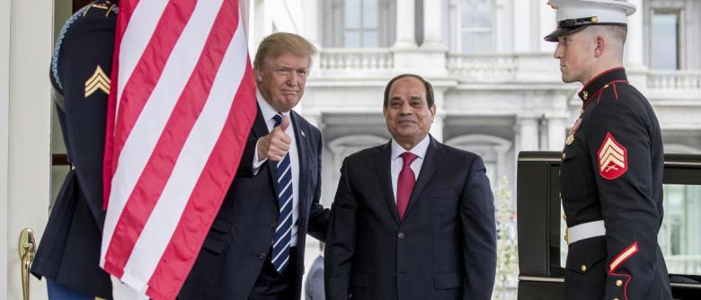 ترامب: تحقيق تقدم كبير مع مصر في مجال مكافحة الإرهاب