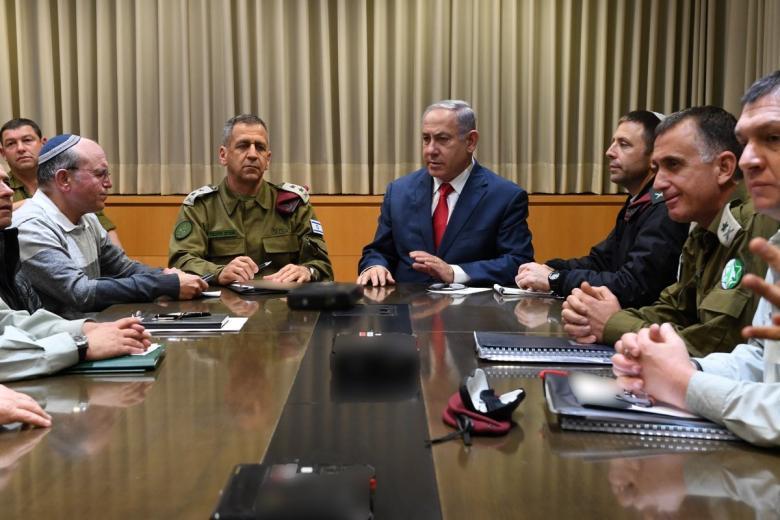 """اجتماع أمني إسرائيلي بعد إطلاق صاروخ """"تل أبيب"""""""