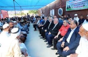 هنية يقدم التعازي لعائلة القسامي أبو كميل