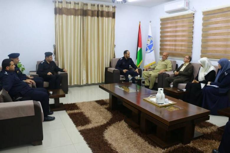 لجنة الداخلية والأمن بالتشريعي تلتقي مدير الشرطة بغزة