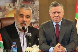 هنية يعزّي ملك الأردن بضحايا السيول