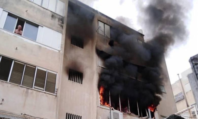 16 إصابة 4 منها بحالة خطيرة بحريق منزل في حيفا