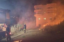 إصابة طفلين بحريق منزل في يطا